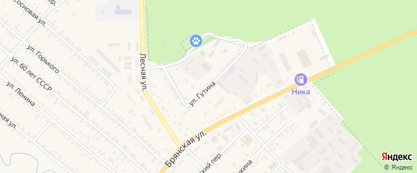 Улица Гутина на карте поселка Климово с номерами домов