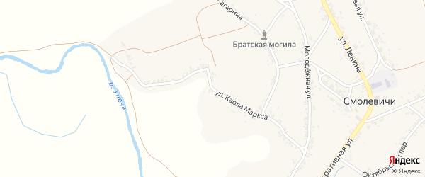 Улица Карла Маркса на карте села Смолевичей с номерами домов