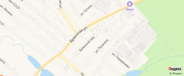 Брянский переулок на карте поселка Климово с номерами домов