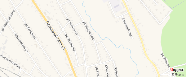 Улица Некрасова на карте поселка Климово с номерами домов