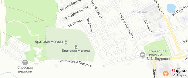 2-й Красноармейский переулок на карте Клинцов с номерами домов