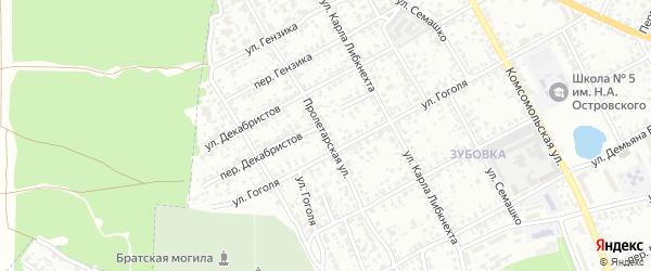 Пролетарская улица на карте Клинцов с номерами домов