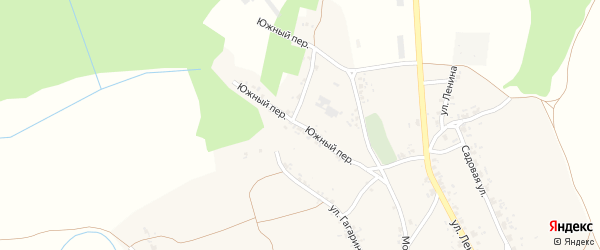Южный переулок на карте села Смолевичей с номерами домов