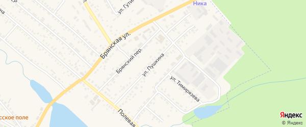 Улица Пушкина на карте поселка Климово с номерами домов