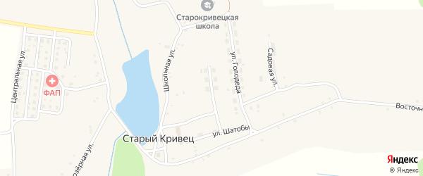 Строительная улица на карте села Старого Кривца с номерами домов