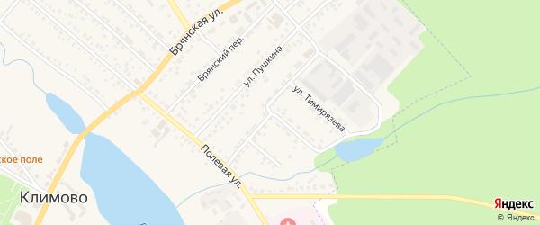 Улица Механизаторов на карте поселка Климово с номерами домов
