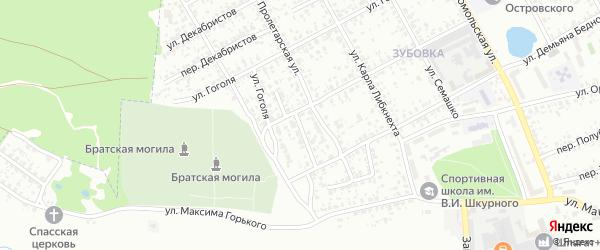 Красноармейский переулок на карте Клинцов с номерами домов