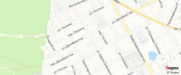 Улица Карла Либкнехта на карте Клинцов с номерами домов