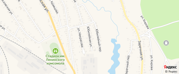 Юбилейная улица на карте поселка Климово с номерами домов