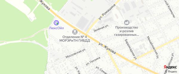 Улица Жукова на карте Клинцов с номерами домов