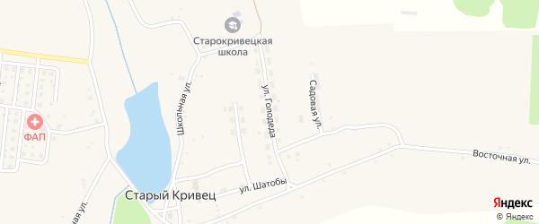 Улица Голодеда на карте села Старого Кривца с номерами домов