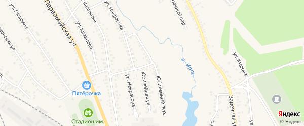 Юбилейный переулок на карте поселка Климово с номерами домов