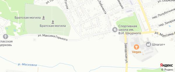 Улица Максима Горького на карте Клинцов с номерами домов