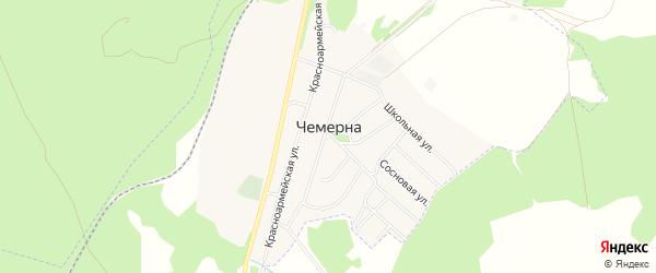 Карта поселка Чемерны в Брянской области с улицами и номерами домов