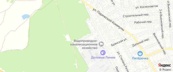 Первомайский проезд на карте Клинцов с номерами домов