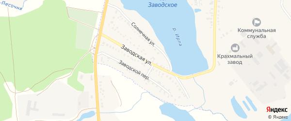Заводская улица на карте поселка Климово с номерами домов