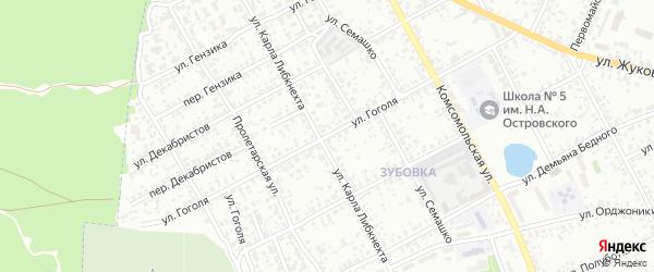 Улица Гоголя на карте Клинцов с номерами домов