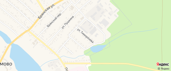 Улица Тимирязева на карте поселка Климово с номерами домов