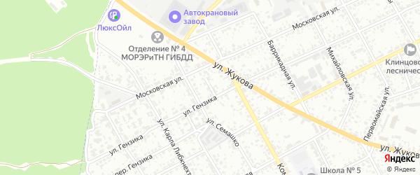 Проезд Гензика на карте Клинцов с номерами домов