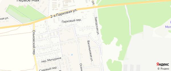 Заводской переулок на карте Клинцов с номерами домов