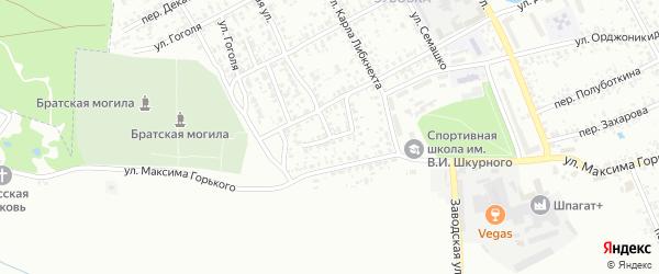 Проезд Максима Горького на карте Клинцов с номерами домов