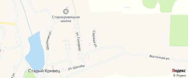 Садовая улица на карте села Старого Кривца с номерами домов