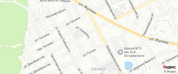 Улица Семашко на карте Клинцов с номерами домов
