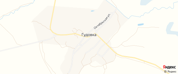 Карта деревни Гудовки в Брянской области с улицами и номерами домов