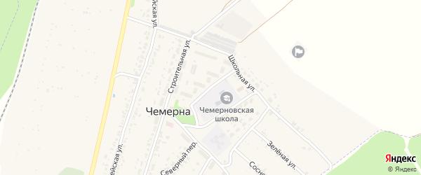 Молодежный переулок на карте поселка Чемерны с номерами домов