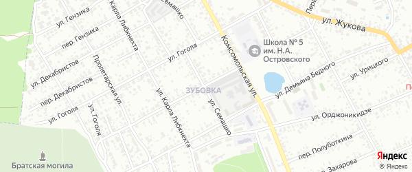 Красноармейская улица на карте Клинцов с номерами домов