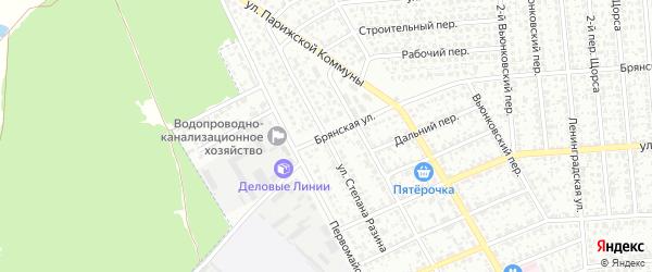Улица Степана Разина на карте Клинцов с номерами домов