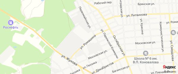 Территория Ромашина 102 ГПК-2 на карте Клинцов с номерами домов