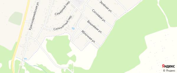 Яблочная улица на карте поселка Чемерны с номерами домов