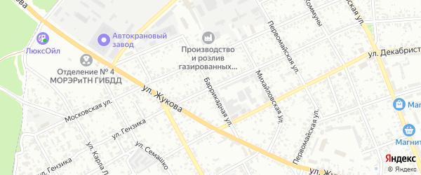Баррикадная улица на карте Клинцов с номерами домов