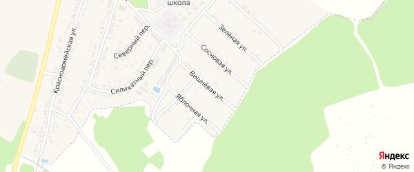 Вишневая улица на карте поселка Чемерны с номерами домов