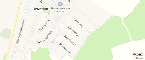Сосновая улица на карте поселка Чемерны с номерами домов