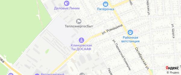 Первомайская улица на карте Клинцов с номерами домов
