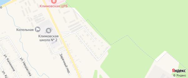 Улица Ковалевского на карте поселка Климово с номерами домов