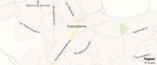 Кооперативная улица на карте села Смолевичей с номерами домов