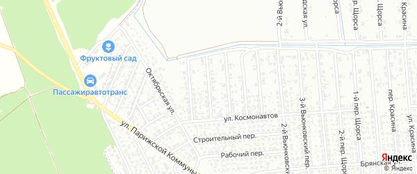 7-й Вьюнковский переулок на карте Клинцов с номерами домов