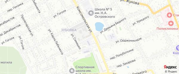 Улица Демьяна Бедного на карте Клинцов с номерами домов