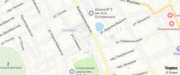 Восточная улица на карте СТ Южного с номерами домов