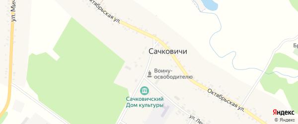 Октябрьский переулок на карте села Сачковичей с номерами домов