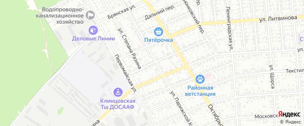 Переулок Степана Разина на карте Клинцов с номерами домов