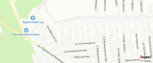 6-й Вьюнковский переулок на карте Клинцов с номерами домов