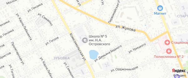 Улица Площадь Свободы на карте Клинцов с номерами домов