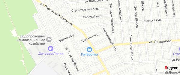 Дальний переулок на карте Клинцов с номерами домов