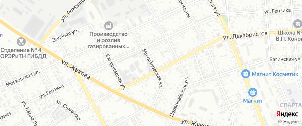 Михайловская улица на карте Клинцов с номерами домов