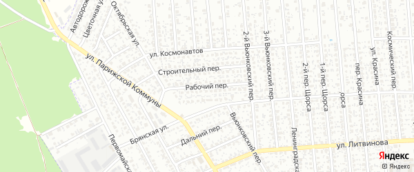 Рабочий переулок на карте Клинцов с номерами домов