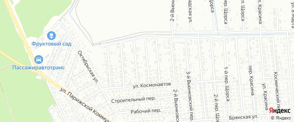 5-й Вьюнковский переулок на карте Клинцов с номерами домов